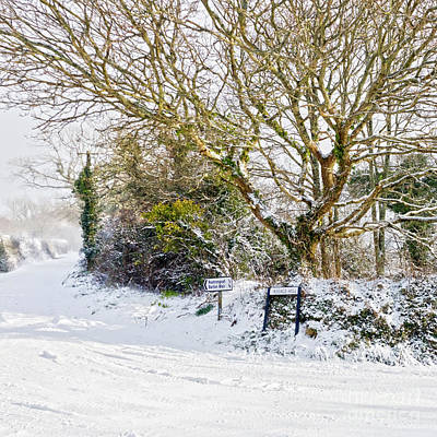 Photograph - Snow In Mylor Bridge by Terri Waters