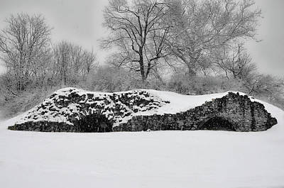 Germantown Photograph - Snow In Plymouth Meeting Pa In Black And White by Bill Cannon