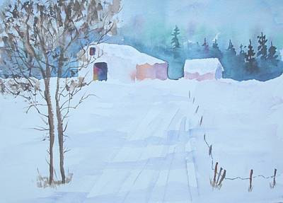 Sutton Painting - Snow In Sutton by Sandra Frosst