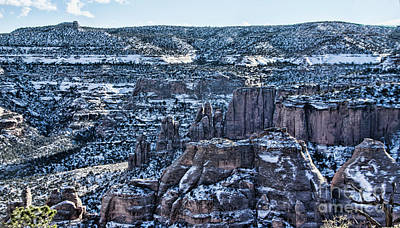 Photograph - Snow In The Canyons by Steven Parker