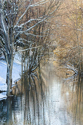 Photograph - Snow In The Channel by Joni Eskridge