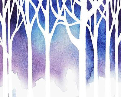 Painting - Snow In The Forest by Irina Sztukowski