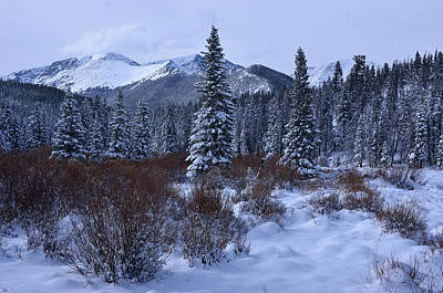 Photograph - Snow In The Mountains by Tranquil Light  Photography