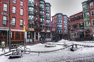 Photograph - Snow In The North End Boston Ma by Toby McGuire