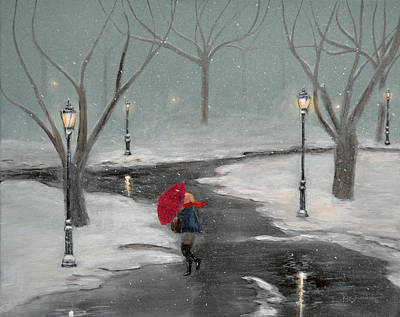Painting - Snow In The Park by Ken Figurski