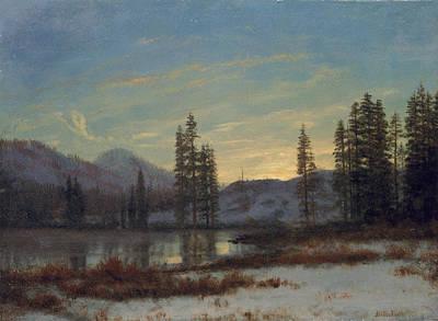 Snowy Trees Painting - Snow In The Rockies by Albert Bierstadt