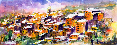 Snow In The South Of France Art Print