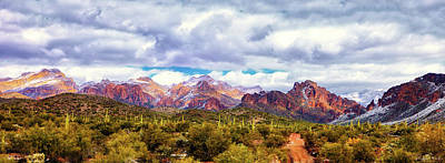 Photograph - Snow In The Superstitions by Rick Furmanek