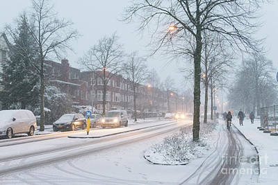Photograph - Snow In Town by Patricia Hofmeester