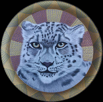 Painting - Snow Leopard by Amanda Lynne