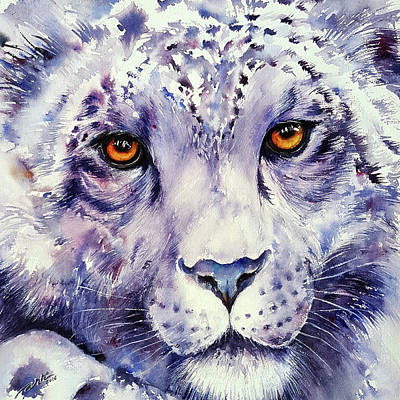 Painting - Snow Leopard by Arti Chauhan