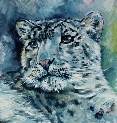 Painting - Snow Leopard by Kovacs Anna Brigitta