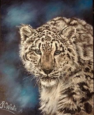 Painting - Snow Leopard by Art By Three Sarah Rebekah Rachel White