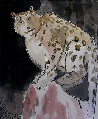 Painting - Snow Leopard by Thomas Tribby