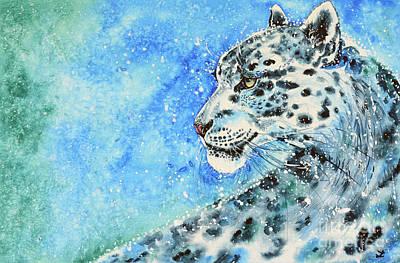 Painting - Snow Leopard by Zaira Dzhaubaeva