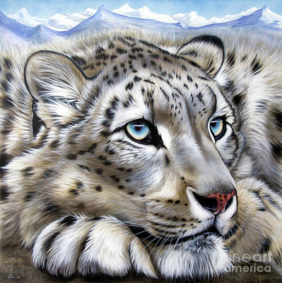 Painting - Snow-leopard's Dream by Sandi Baker