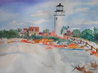 Snow Light At Cape Cod Art Print by Warren Thompson