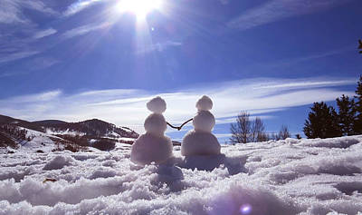 Snowwoman Photograph - Snow Love by David Sockrider
