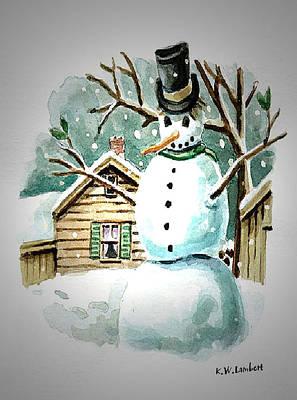 Snow Man Art Print