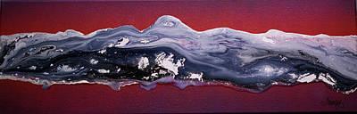 Skiing Fine Art Painting - Snow Melt by Karen Towey