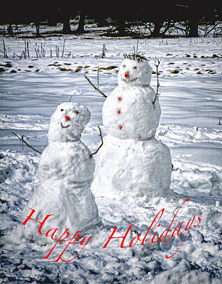 Photograph - Snow Men by Patricia Sanders
