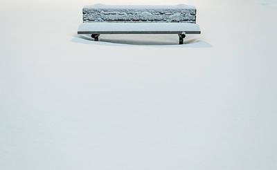 Snow Minimalist Art Print
