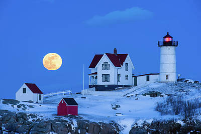 Photograph - Snow Moon by Michael Blanchette