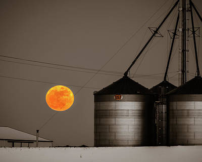 Photograph - Snow Moon Rising by William Christiansen