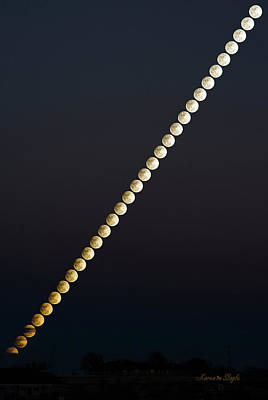 Photograph - Snow Moon Time Stack by Karen Slagle
