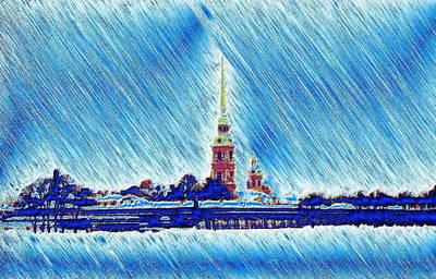Snow Morning Art Print by Yury Bashkin