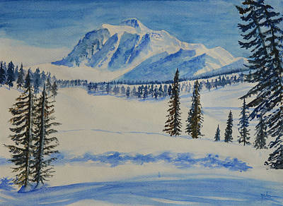 Snowscape Painting - Snow Mountain by Neha Soni