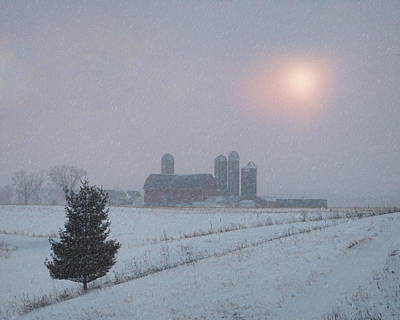 Photograph - Snow Muted Sunset by Judy Johnson