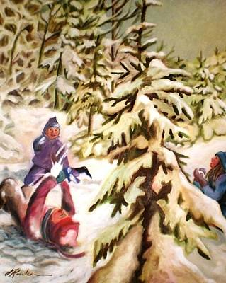 Painting - Snow - Neige by Therese Rouleau