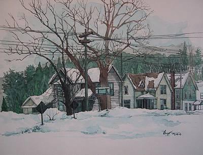 Snow Next Door Art Print by Richard Ong