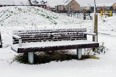 Photograph - Snow On A Bench by Tom Gowanlock