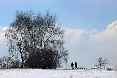 Photograph - Snow On Epsom Downs Surrey 1 by Julia Gavin