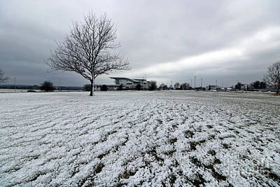 Photograph - Snow On Epsom Downs Uk by Julia Gavin