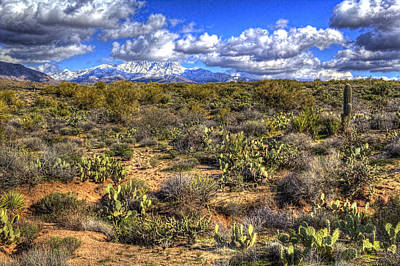 Photograph - Snow On Four Peaks by Roger Passman