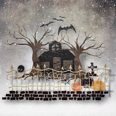 Mixed Media - Snow On Halloween by Gabriella Weninger - David