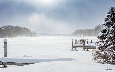 Photograph - Snow On Lake Charlevoix by Framing Places