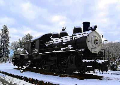 Photograph - Snow On Locomotive - Engine 1229 by Michele Avanti