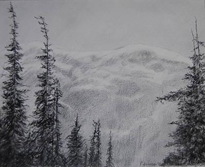 Colorado Rockies Drawing - Snow On Loveland Pass by Paul Johnson