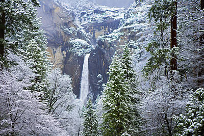 Photograph - Snow On Lower Yosemite Falls by Gregory Scott