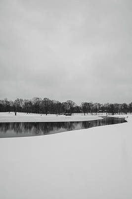 Photograph - Snow On Pond by Gregory Alan
