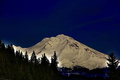 Photograph - Snow On Shasta by Athala Carole Bruckner