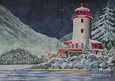 Painting - Snow On Sitka Sound by John W Walker