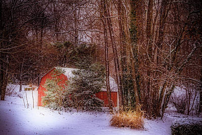 Photograph - Snow On The Barn by Barry Jones