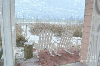 Photograph - Snow On The Beach 4 by Kathy Baccari