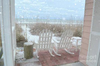 Photograph - Snow On The Beach 4 by Kathy Baccari