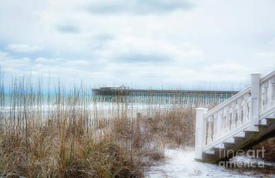 Photograph - Snow On The Beach 8 by Kathy Baccari